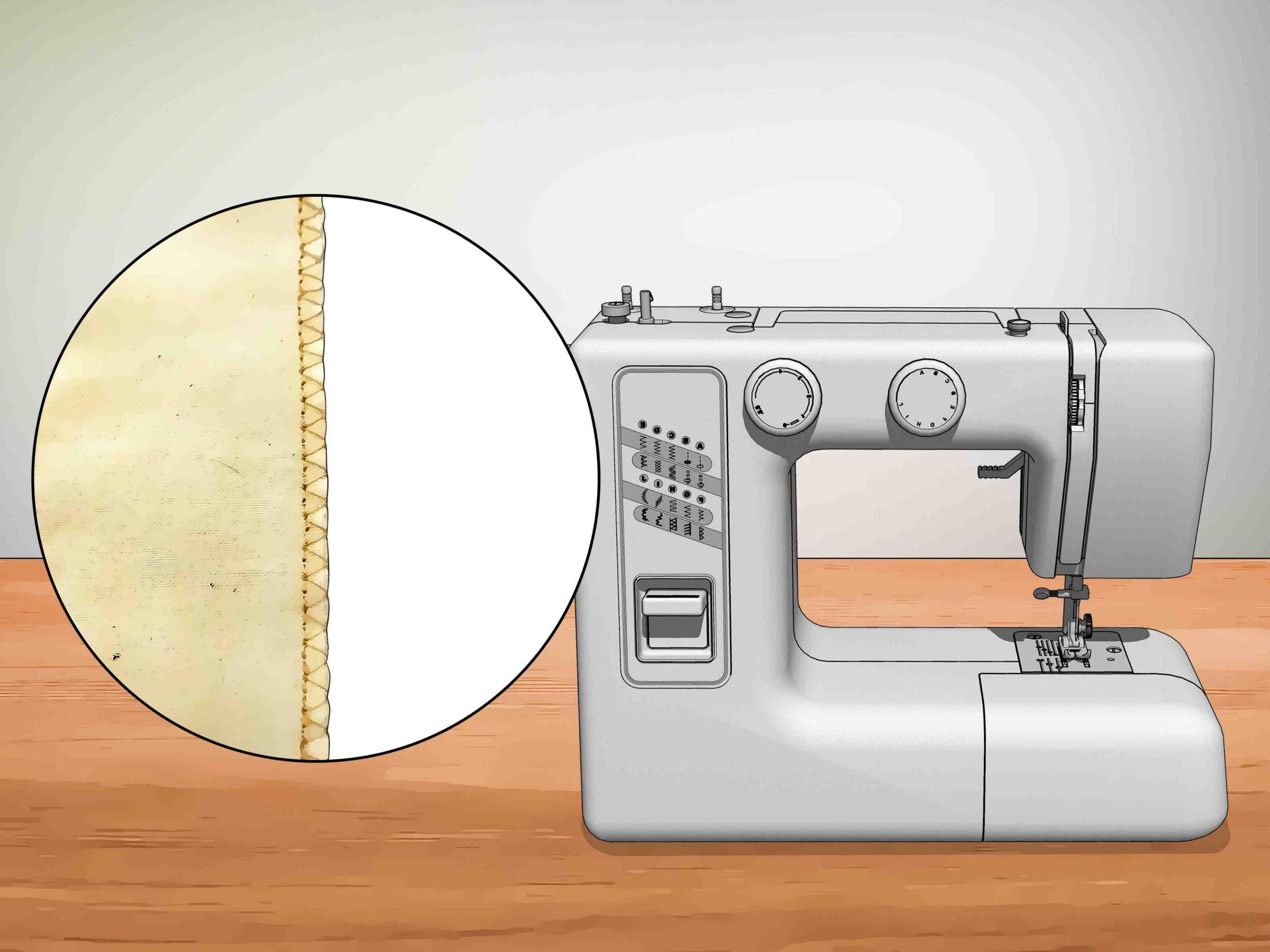 Comment coudre le bord d'un tissu?