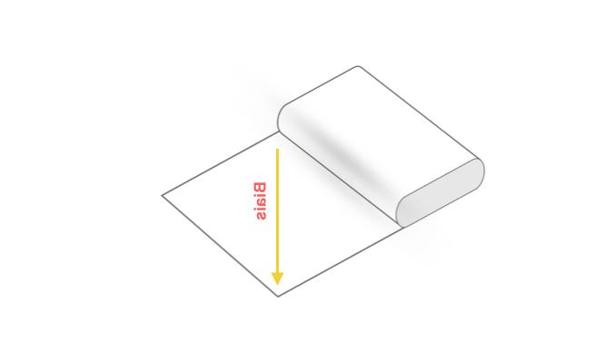 Comment couper un morceau de tissu en ligne droite?