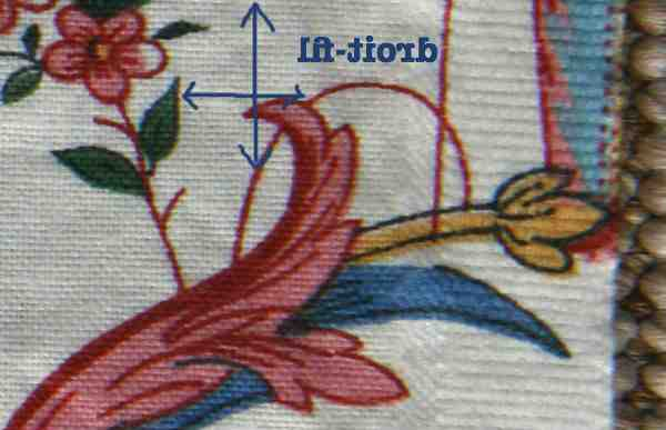 Comment couper un tissu avec un motif?