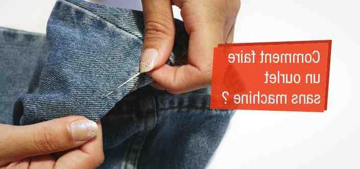 Comment raccourcir un pantalon sans machine à coudre?