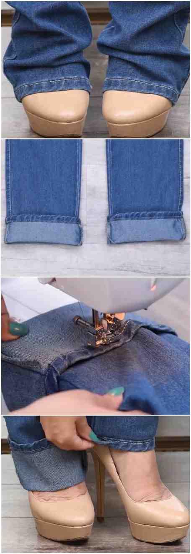 Comment reprendre un pantalon trop long?