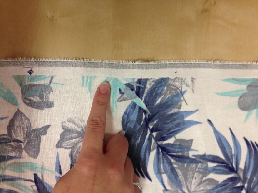 Quel est le bord du tissu?