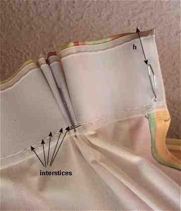 Comment faire des plis sur un rideau?