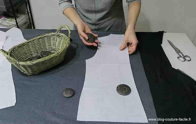 Comment placer correctement le motif sur le tissu?