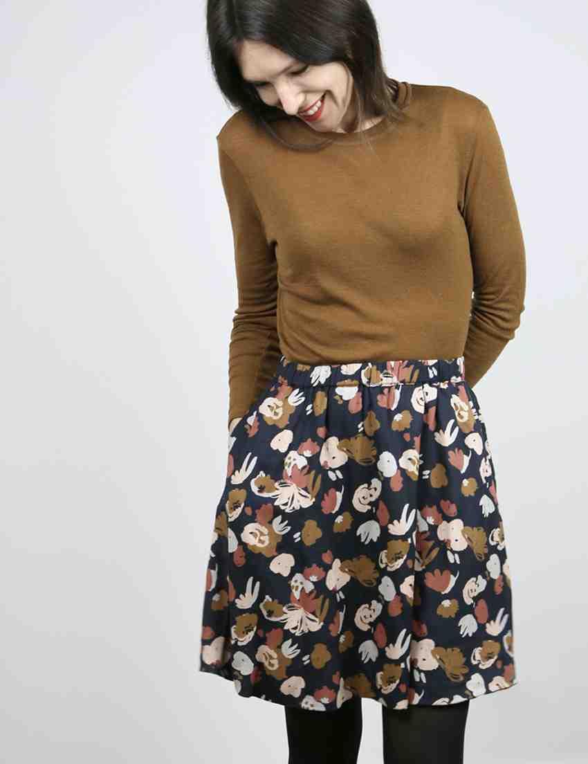 Comment raccourcir une jupe droite?