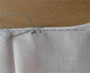 Quelle couture pour le bord du rideau?