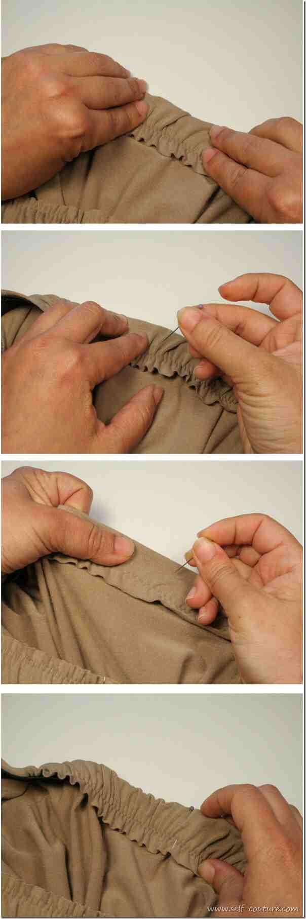 Comment traiter une couture en satin?